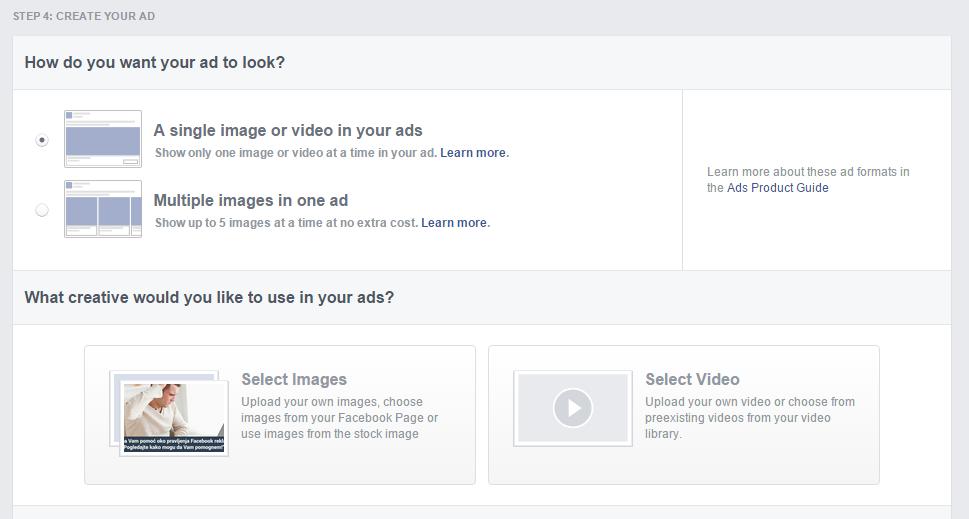 Šta će se prikazati kao Vaša reklama